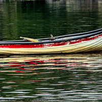 Buy canvas prints of Rowing Boat by julie williams
