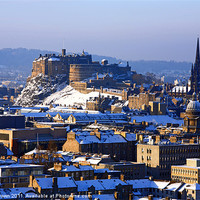 Buy canvas prints of Edinburgh cityscape in winter by Craig Brown