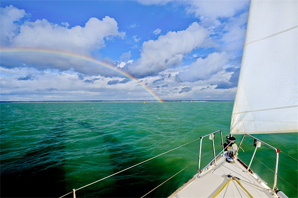 Rainbows off the port bow Framed Mounted Print by Gary Eason + Flight Artworks