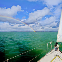 Buy canvas prints of Rainbows off the port bow by Gary Eason + Flight Artworks