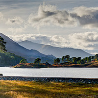 Buy canvas prints of Glen Affric panorama I by Gary Eason + Flight Artworks