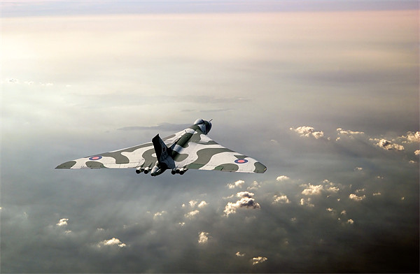 Vulcan over the Channel Canvas print by Gary Eason + Flight Artworks