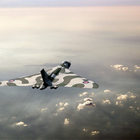 Buy canvas prints of Vulcan over the Channel by Gary Eason + Flight Artworks