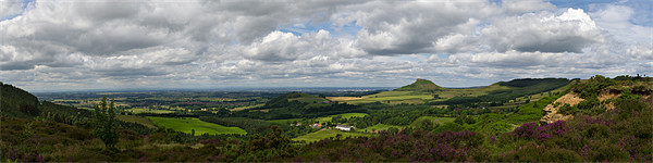 Tees plain and Roseberry Topping Canvas print by Gary Eason + Flight Artworks