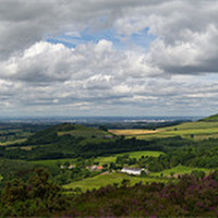 Buy canvas prints of Tees plain and Roseberry Topping by Gary Eason + Flight Artworks