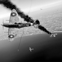 Buy canvas prints of Spitfires in Channel dogfight by Gary Eason + Flight Artworks