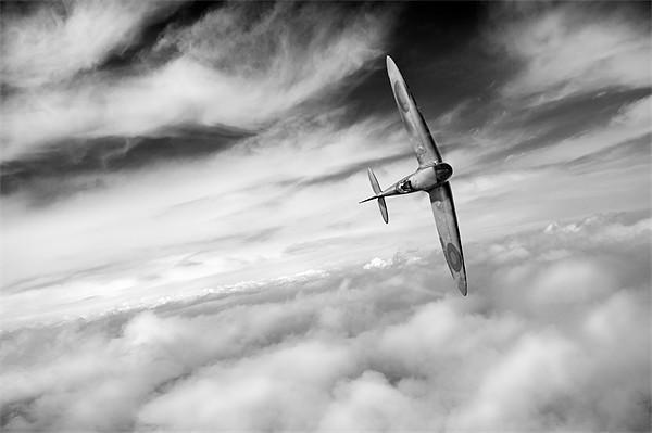 Freedom: Spitfire solo B&W version Canvas print by Gary Eason + Flight Artworks