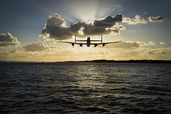 Job done - Lancaster seascape Canvas print by Gary Eason + Flight Artworks
