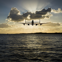 Buy canvas prints of Job done - Lancaster seascape by Gary Eason + Flight Artworks
