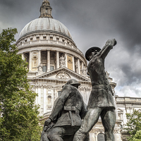 Buy canvas prints of Blitz firefighters memorial by Gary Eason + Flight Artworks