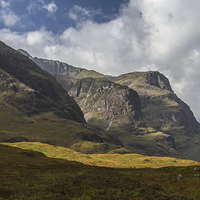Buy canvas prints of Three Sisters Glencoe by Gary Eason + Flight