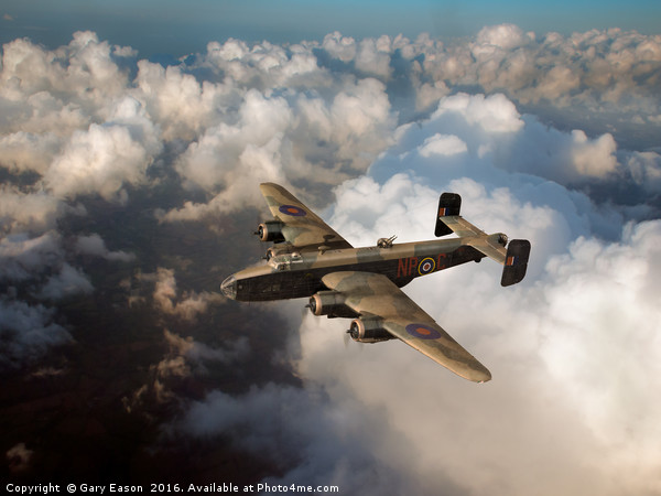 Handley Page Halifax above clouds Canvas print by Gary Eason