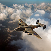 Buy canvas prints of Handley Page Halifax above clouds by Gary Eason