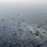 Buy canvas prints of D-Day Stirlings and Horsa gliders by Gary Eason