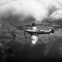 Buy canvas prints of Photo reconnaissance Spitfire B&W version by Gary Eason