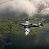 Buy canvas prints of Photo reconnaissance Spitfire by Gary Eason