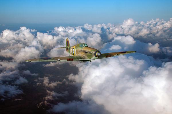 RAF Hurricane JX-L in flight Acrylic by Gary Eason