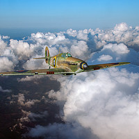 Buy canvas prints of RAF Hurricane JX-L in flight by Gary Eason