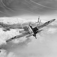 Buy canvas prints of Hawker Hurricane deflection shot, B&W version by Gary Eason