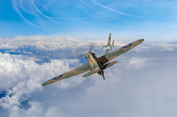 Hawker Hurricane deflection shot Print by Gary Eason