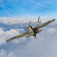 Buy canvas prints of Hawker Hurricane deflection shot by Gary Eason