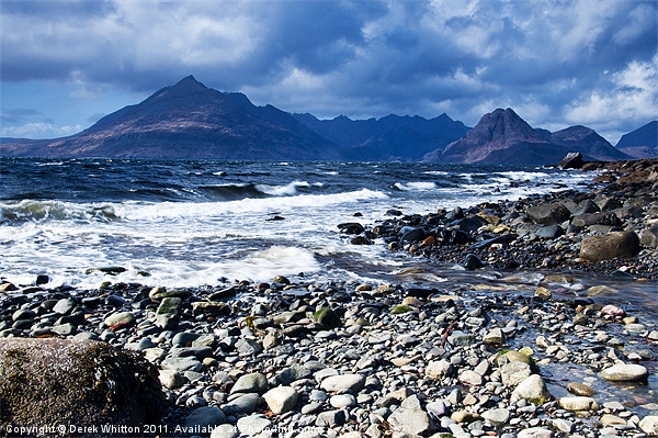 Cuillins from Elgol Canvas print by Derek Whitton Landscape Photography