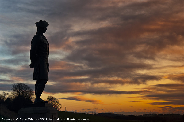 The Black Watch Memorial Dundee Canvas print by Derek Whitton Landscape Photography