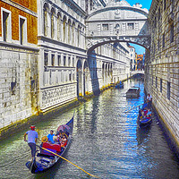 Buy canvas prints of Bridge of Sighs by Derek Whitton