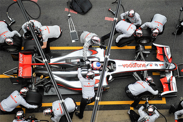 Jenson Button -Pitstop Canvas print by SEAN RAMSELL