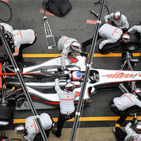 Buy canvas prints of Jenson Button -Pitstop by SEAN RAMSELL