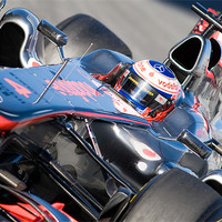 Buy canvas prints of Jenson Button - McLaren F1 by SEAN RAMSELL
