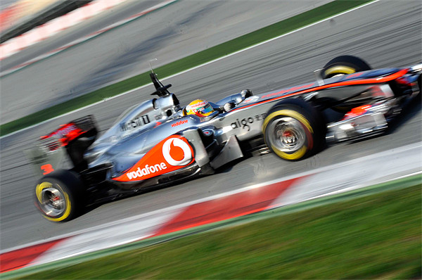 Lewis Hamilton McLaren F1 Canvas print by SEAN RAMSELL
