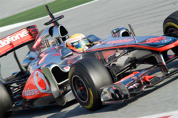 Lewis Hamilton - McLaren F1  MP4-26 Canvas print by SEAN RAMSELL