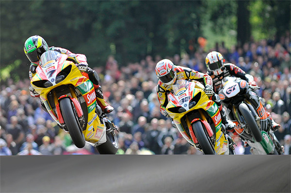 Tommy Hill, Michael Laverty, Shane Brne at Cadwell Canvas print by SEAN RAMSELL