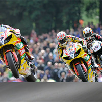 Buy canvas prints of Tommy Hill, Michael Laverty, Shane Brne at Cadwell by SEAN RAMSELL