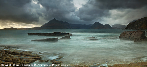 Cuillins Storm from Elgol Canvas print by Creative Photography Wales