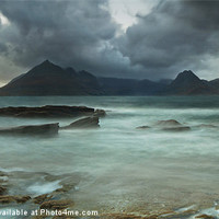 Buy canvas prints of Cuillins Storm from Elgol by Creative Photography Wales