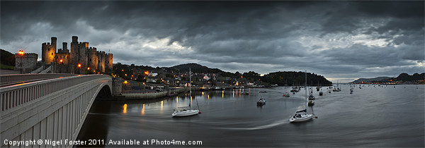 Conwy Castle Canvas Print by Creative Photography Wales