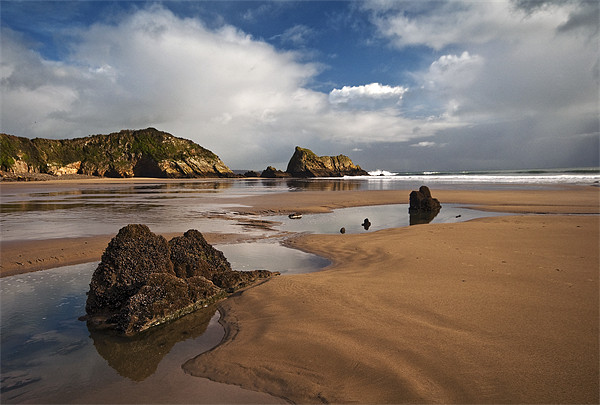 Monkstone Point Canvas print by Creative Photography Wales