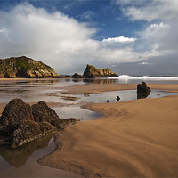 Buy canvas prints of Monkstone Point by Creative Photography Wales