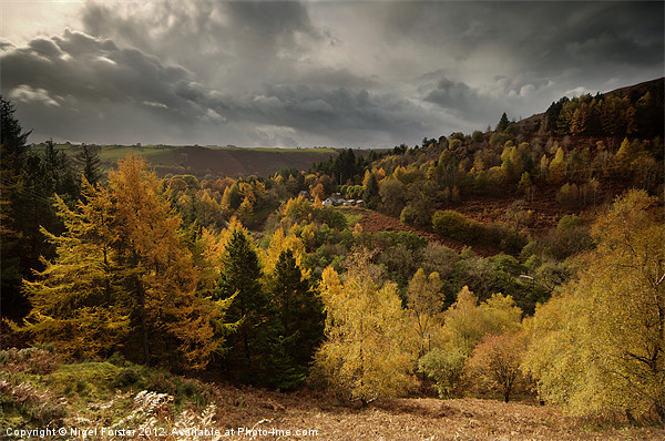 Llanidloes autumn landscape Framed Mounted Print by Creative Photography Wales