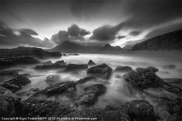 The Black Cuillins Canvas print by Creative Photography Wales