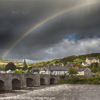 Buy canvas prints of Crickhowell Rainbow by Creative Photography Wales