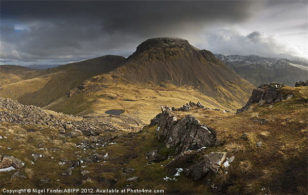 Great Gable Canvas print by Creative Photography Wales