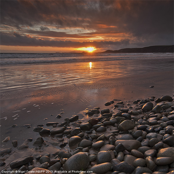 Pebbles Canvas print by Creative Photography Wales