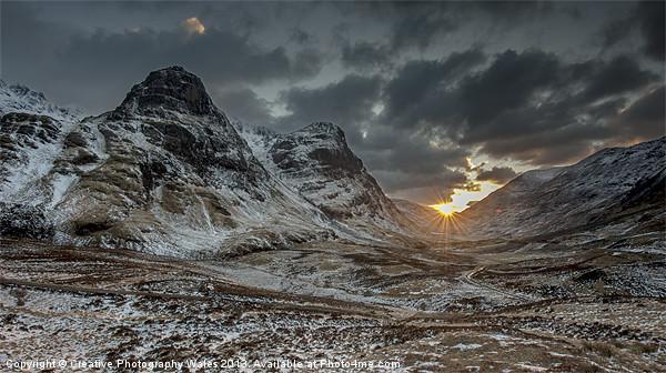 The Three Sisters, Glencoe, Scotland, UK Canvas print by Creative Photography Wales
