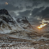 Buy canvas prints of The Three Sisters, Glencoe, Scotland, UK by Creative Photography Wales