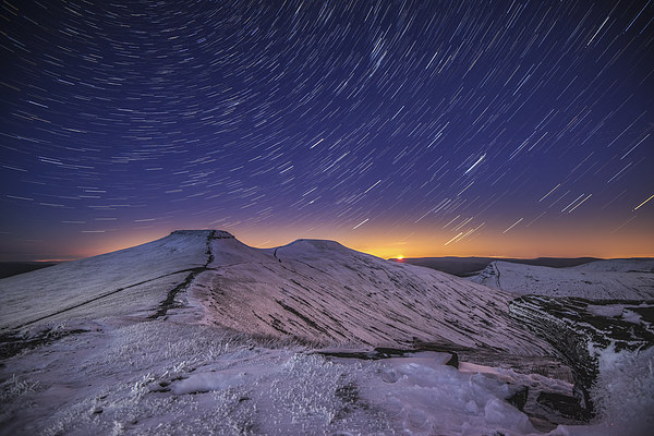 Pen y Fan Star Trails Canvas print by Creative Photography Wales