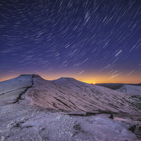 Buy canvas prints of Pen y Fan Star Trails by Creative Photography Wales