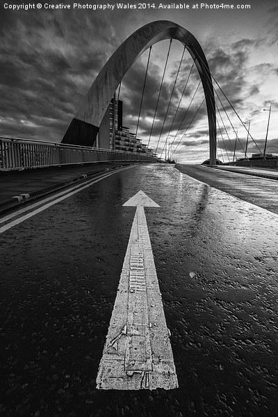 Squinty Bridge Arrow Canvas print by Creative Photography Wales
